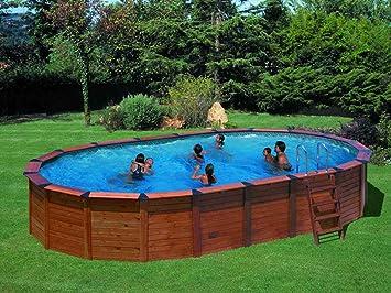 San Marina Pool Verkleidung Holz Im Set Oval Natur Pool 7 45 X 4 2