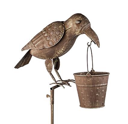 Amazon.com: Rústico Tall Comedero para pájaros Pájaro Cuervo ...