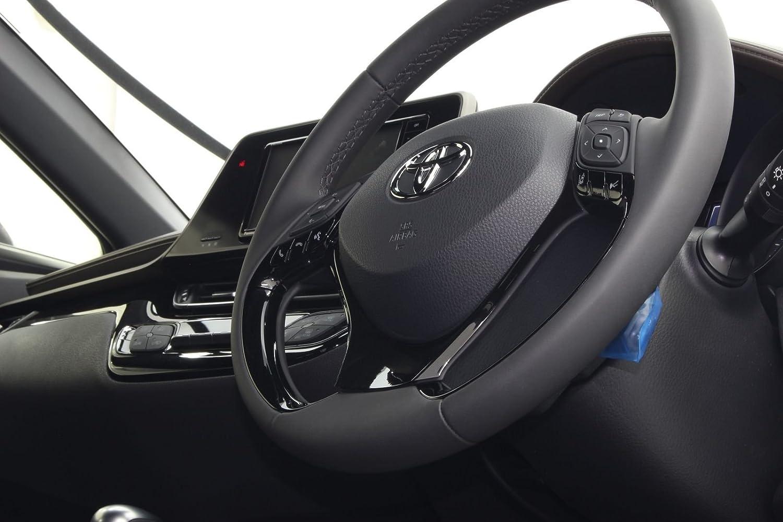 Steering Wheel Panel Garnish Trim Cover Decoration Sticker Interior Chrome for Toyota C-HR 2016-2018