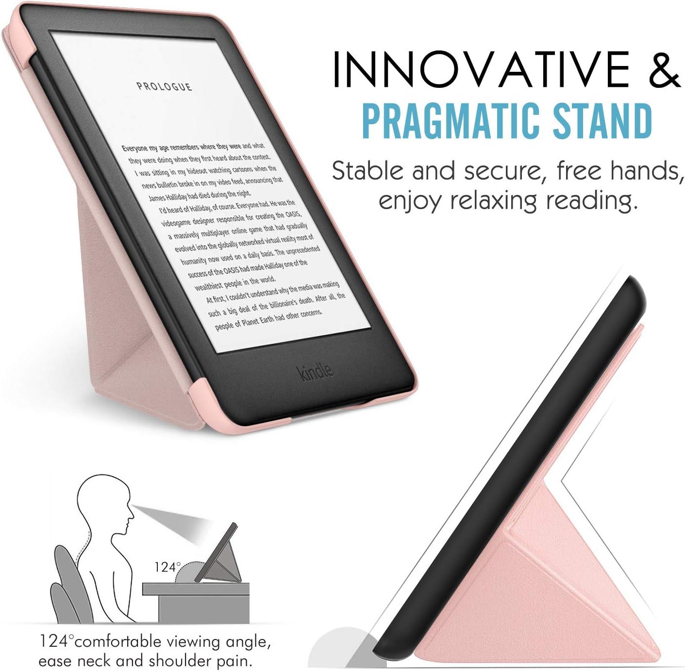 8th Generation, 2016 10th Generation, 2019 Noche Estrellada Standing Origami Slim Shell Funda con Auto Sue/ño//Estela // Kindle MoKo Funda Compatible con All-New Kindle
