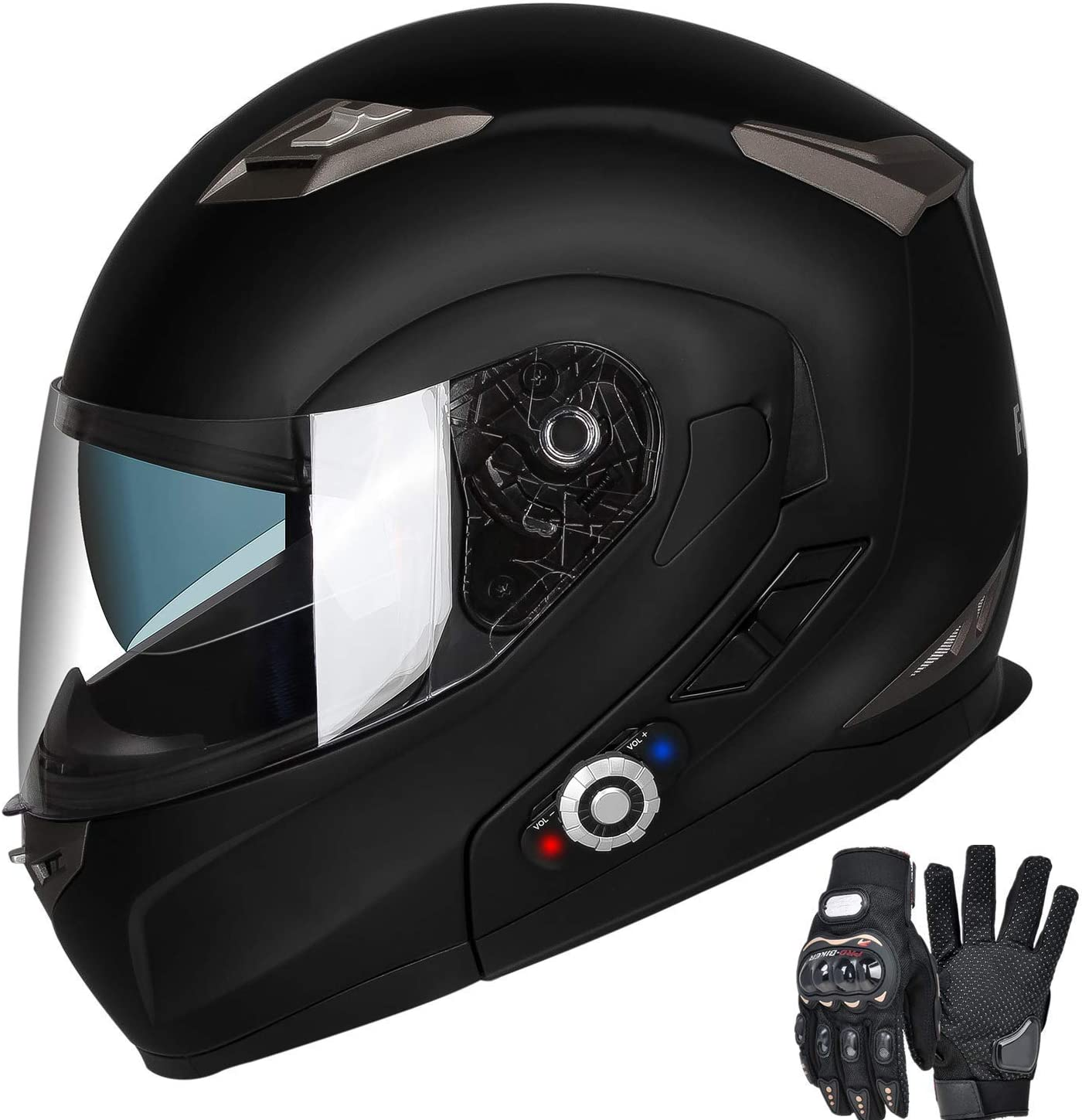 Motorcycle Bluetooth Helmet, FreedConn BM2-S Flip Up Modular Bluetooth Motorcycle Helmet Voice Dial/Hands-Free Call/ 500M/ 2-3 Riders/ MP3/ FM/DOT Motorcycle Helmet with Bluetooth 3.0