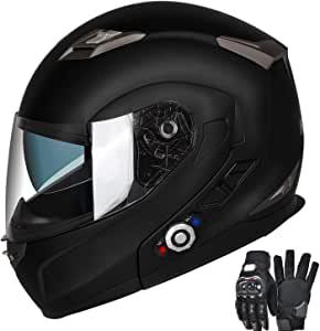 Motorcycle Bluetooth Helmet, FreedConn BM2-S Flip Up Modular Bluetooth Motorcycle Helmet Voice Dial/Hands-Free Call/ 500M/ 2-3 Riders/ MP3/ FM/DOT Motorcycle Helmet with Bluetooth 3.0