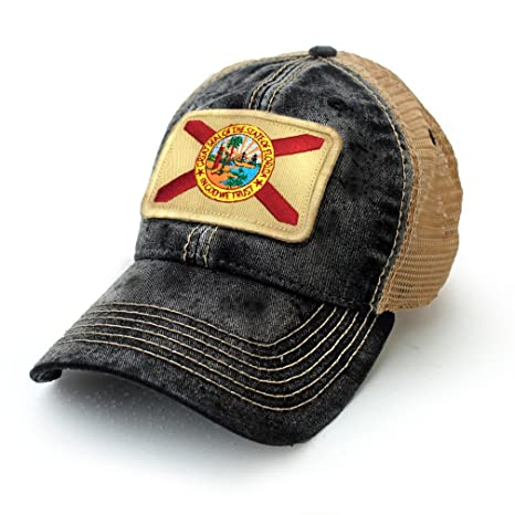 b4a085fc5e1 ... cheapest florida flag patch trucker hat black cc611 a9113