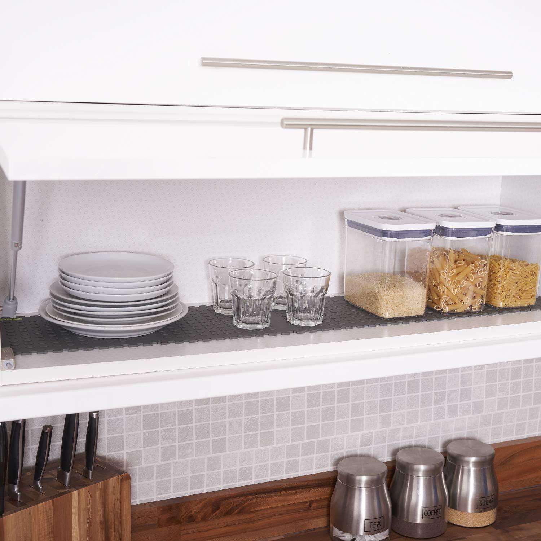 estera de drenaje Clinges estera para utensilios de cocina de vidrio y pl/ástico Blanco envejecido. Tapetes de PVC para estantes con m/últiples usos