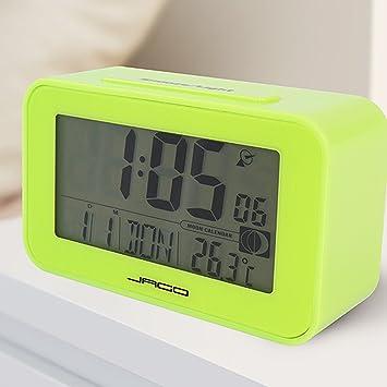 Jago - Reloj despertador digital con alarma, muestra la fecha y el día de la