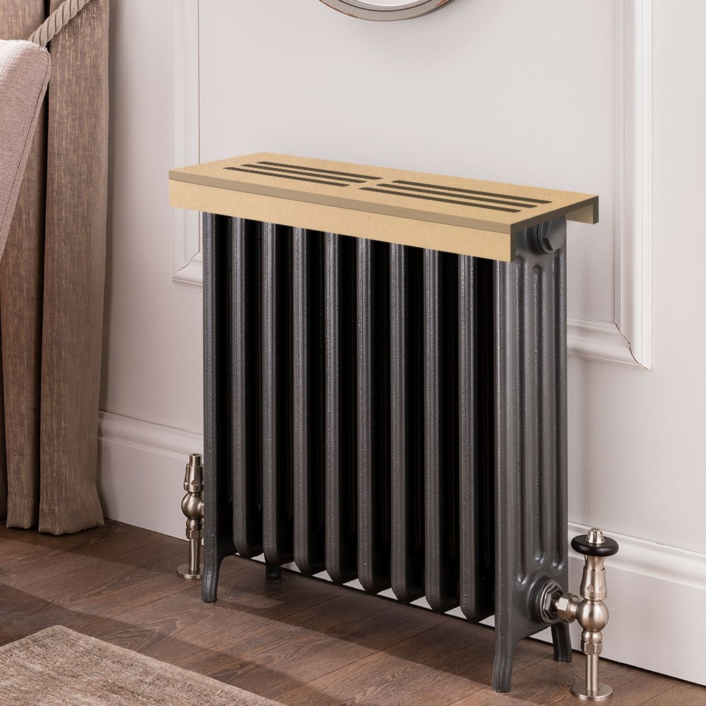 Unfinished MDF Radiator Cover Shelf, 36'' Width x 6'' Length x 3'' Height