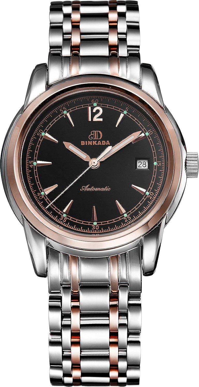 BINKADA 3ポインタMechanicalレザーバンドホワイトダイヤルメンズ腕時計# 706201 – 4 B01DZKZATM