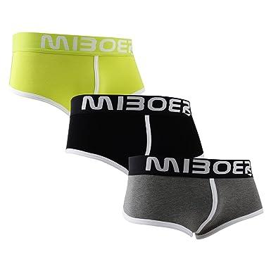 afcd30663a Mens 3 Pack Cotton Briefs Flexible Soft Trunk Multiple Colour Size M L XL  Underwear