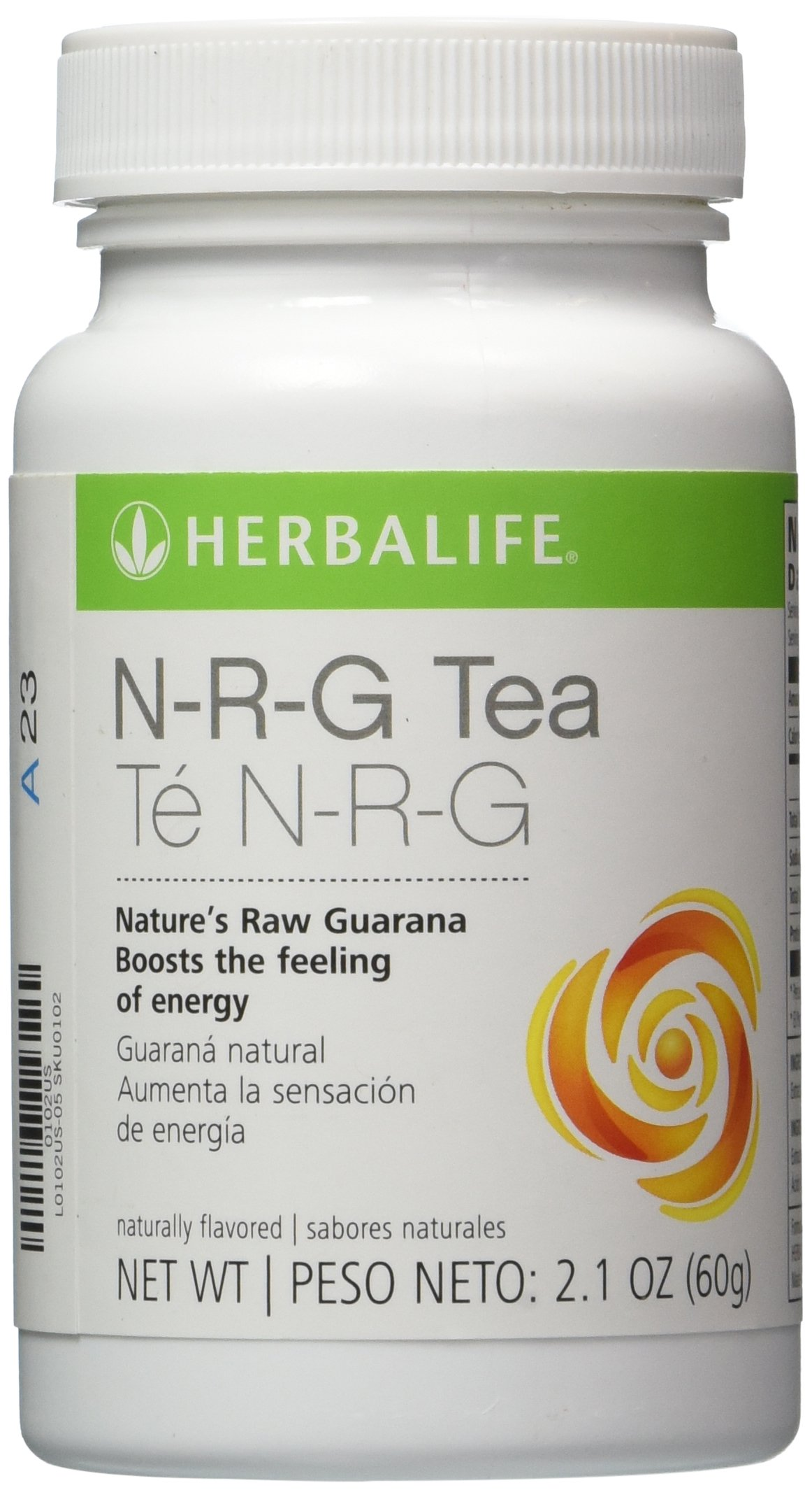 HERBALIFE NRG NATURE'S RAW GUARANA POWDER TEA 2.1 OZ