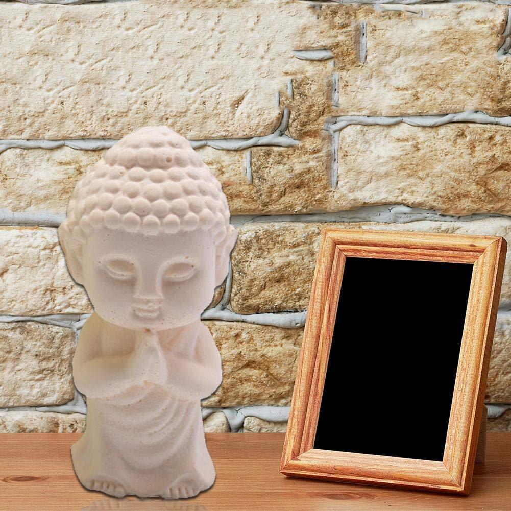 decoraci/ón de Pastel de Molde de Yeso de Vela de Coche bouncevi Yeso de aromaterapia de Buda de pie Molde de Silicona DIY Top Sale admired