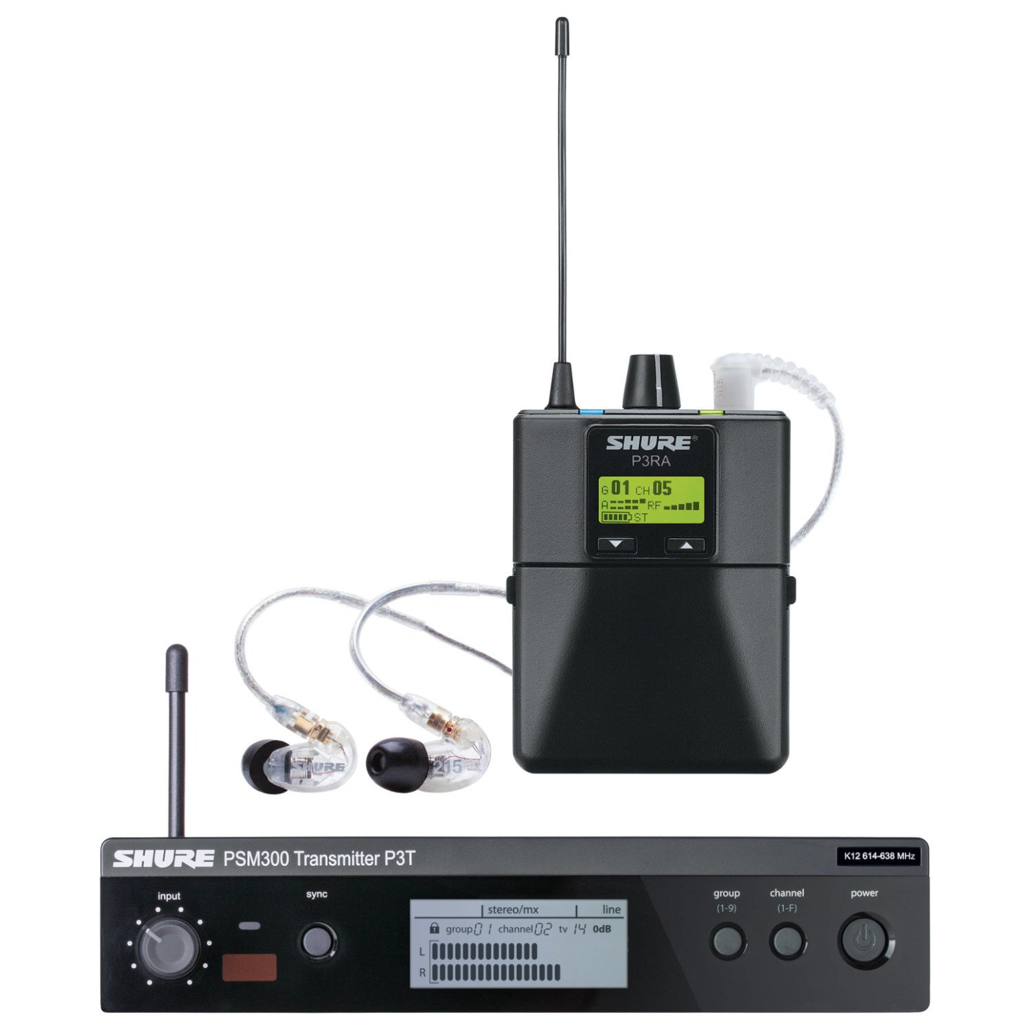 Shure P3TRA215CL PSM 300 Wireless In-Ear Monitor System