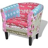 Fauteuil design Flora patchwork multi couleur