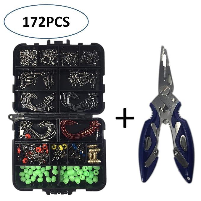Amazon.com: NewQiang - Kit de accesorios de pesca con caja ...