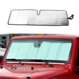 Windshield Sunshade Sun Shade Heat Shield Sun Visor Mat for Jeep Wrangler Rubicon Sahara TJ JK JKU 2 Door & 4 Door
