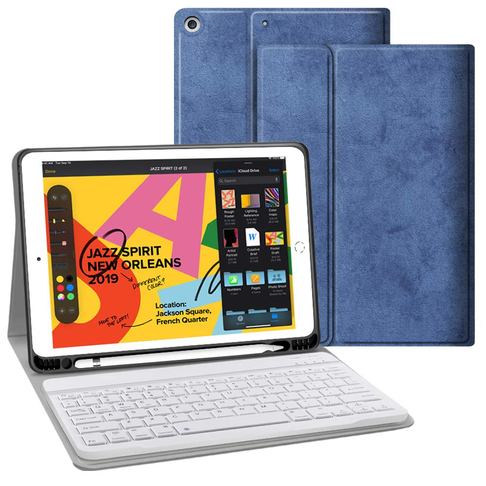 Funda Teclado Para iPad 7 Gen 10.2, Wireless, Auto Sleep