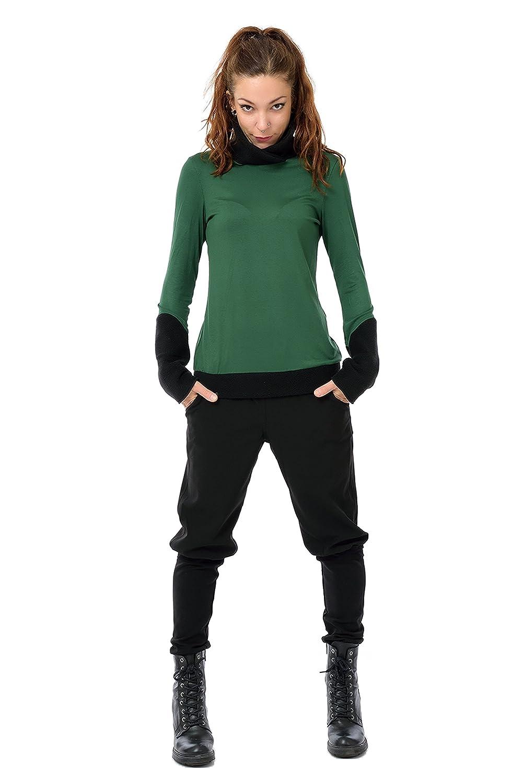 Rollkragenpullover Damen Pullover Winter mit Fleece Kragen von 3Elfen, Winterkleidung Frauen Fleece