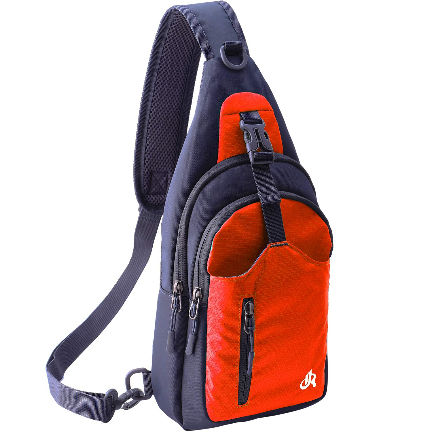 Y&R Direct Sling Bag Backpack Crossbody Bag Small Crossbody Purse for Men Women Hiking Camping (OrangeRed)