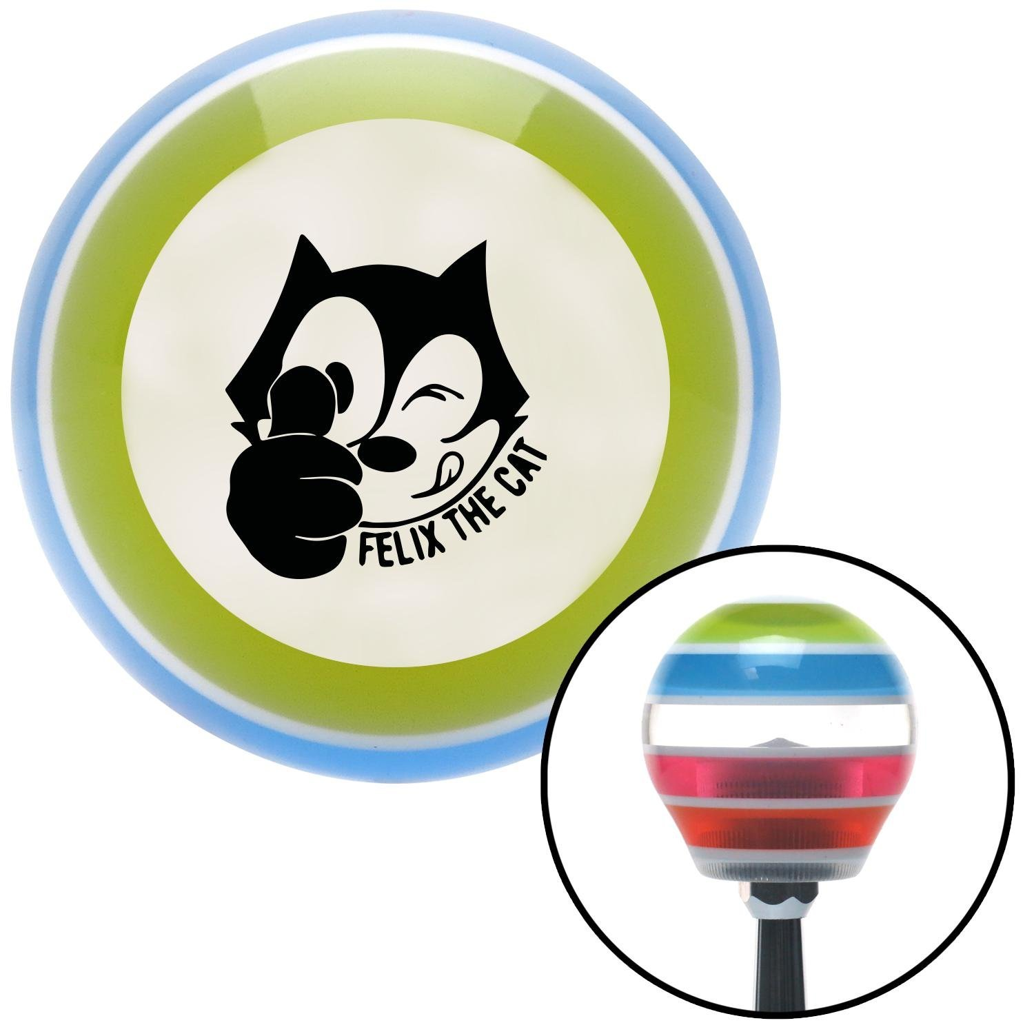 Black Felix The Cat Thumbs Up American Shifter 135667 Stripe Shift Knob with M16 x 1.5 Insert