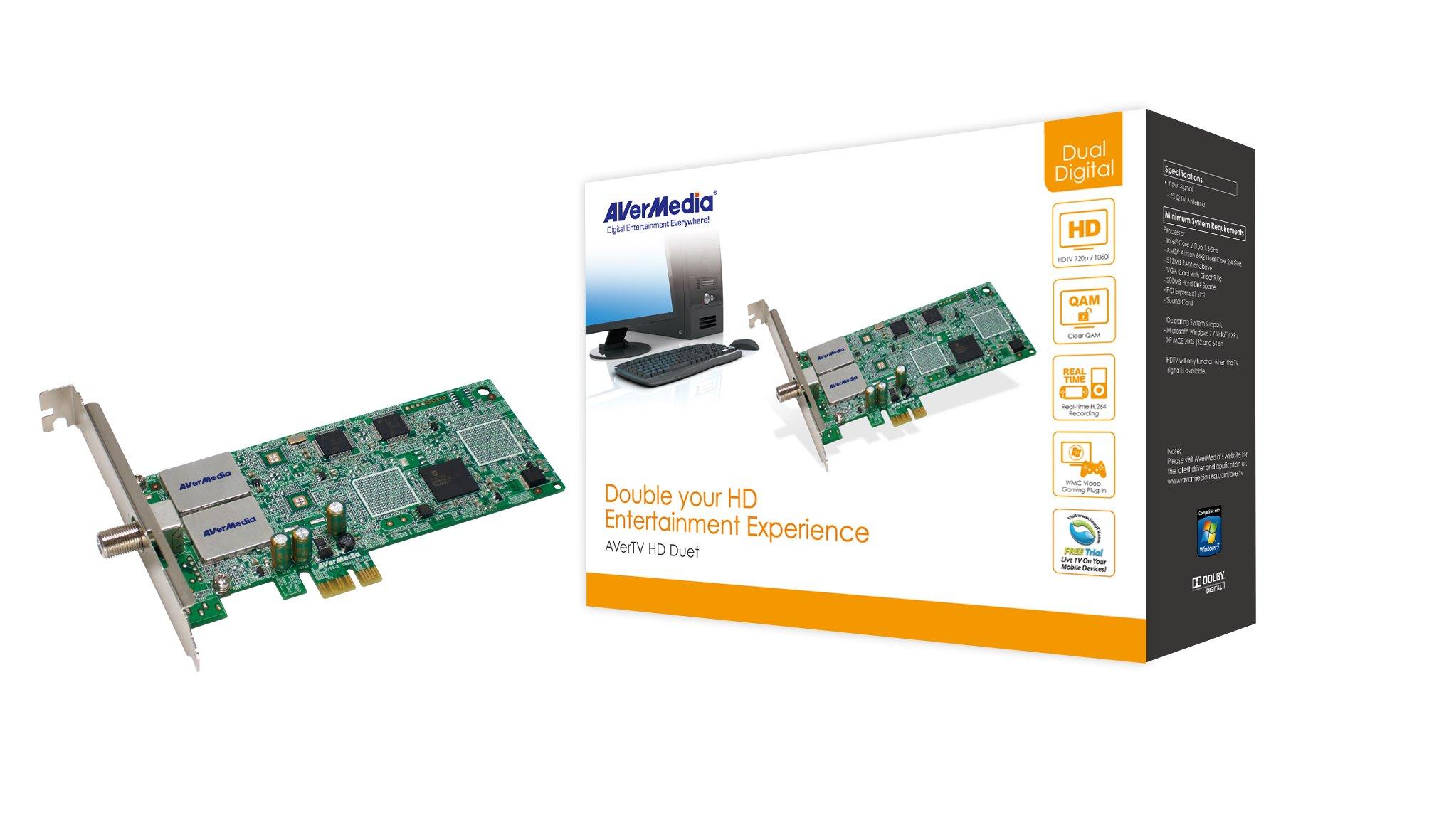 AVerMedia A188 HD Duet - Dual ATSC PCI-E TV Tuner for Windows Media Center by AVerMedia