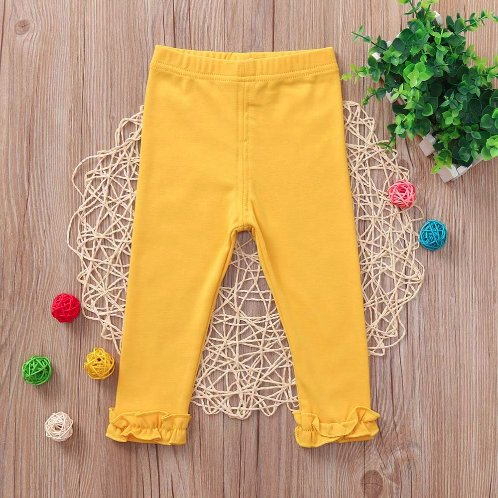 Toddler Candy Color Leggings Baby Boys Girls Trousers Kids Pants Skinny Clothes ALIKEEY Baby Clothes