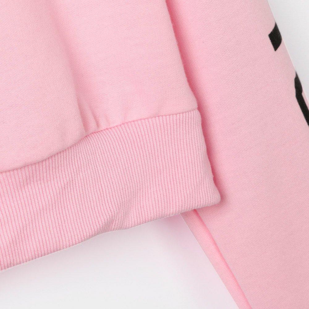 TWGONE Letter Hoodies Womens Long Sleeve Sweatshirt Solid Pullover Tops Blouse