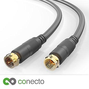 conecto HQ Sat Cable de Antena satélite Cable de conexión de Cable – para DVB-