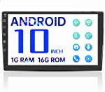 Double Din Android Bluetooth Car Stereo,10'' Voice Control Car Radio with