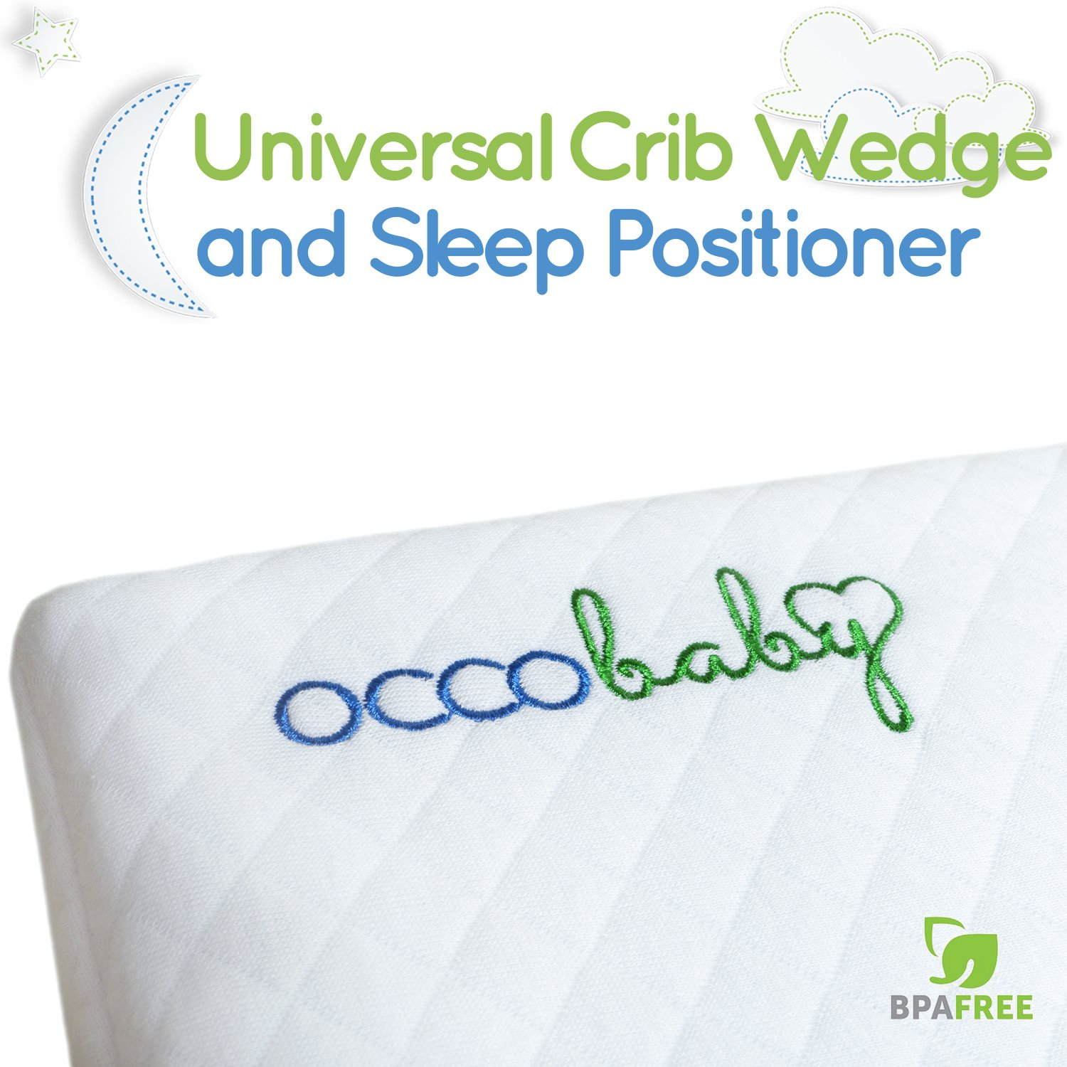 Crib wedges for babies - Amazon Com Occobaby Universal Crib Wedge And Sleep Positioner For Baby Mattress Waterproof Layer Handcrafted Cotton Removable Cover 12 Degree