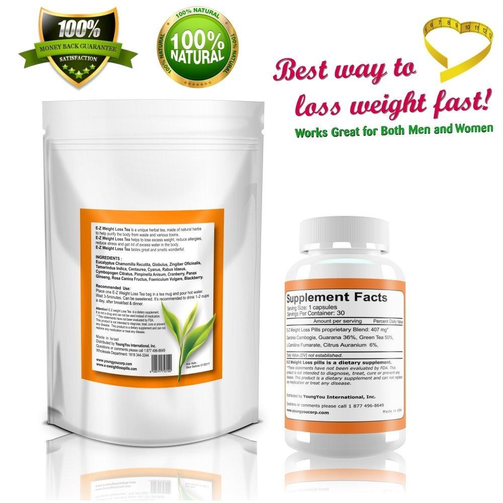 Amazon.com: E-Z Pérdida de Peso Pastillas + Easy dieta té ...