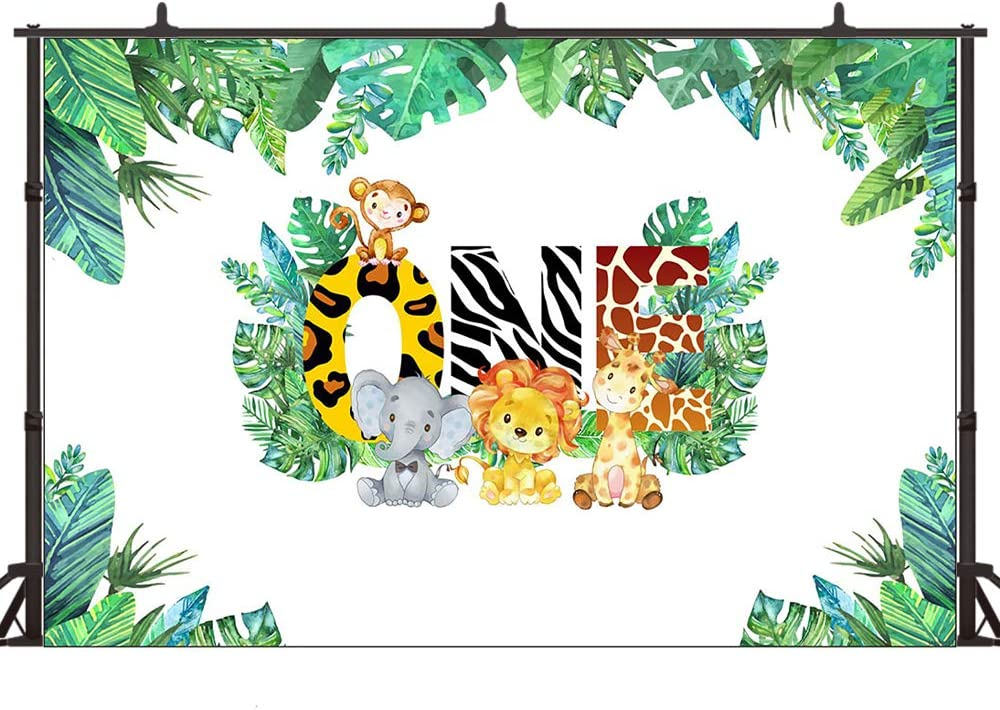 Wild One Banner Hunter Backdrop Hardworking Bee Backdrop Jungle Safari Animal Birthday Photography Background Vinyl Kids First Birthday Party Backdrop