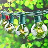 Globe String Light with G40 Bulbs - ON'H 25ft UL Listed Outdoor String Lights for Patio Garden Backyard Party, Green Wire