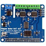 Geekworm Raspberry Pi 3 Model B Full function Motor HAT Robot Expansion Board Support Raspberry Pi 3 / 2B /B+ (Stepper / Motor / Servo/ IR Remote)