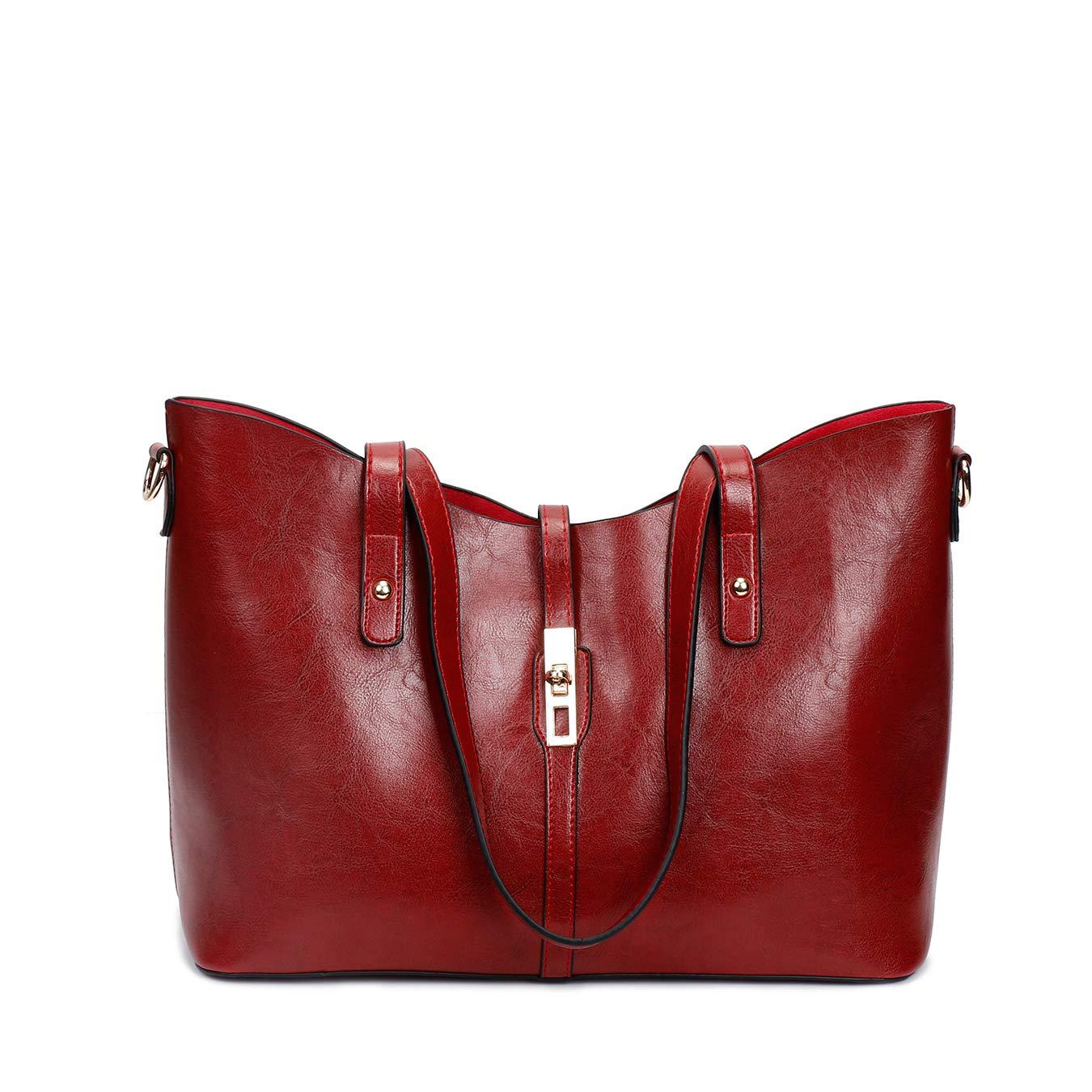 Large Purses Sets Handbags for Women Leather Tote Hobo Bags 4pcs