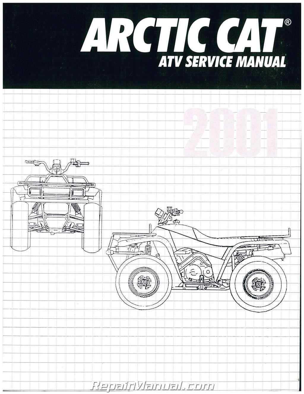 2256-348 2001 Arctic Cat 250 300 400 500 ATV Service Manual ... on