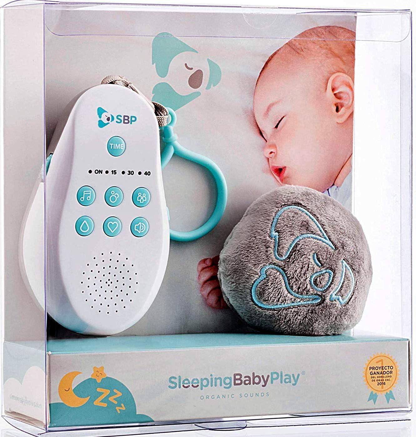 Sleeping Baby Play: Máquina de Ruidos Blancos y Melodías para Bebés + Peluche Dou Dou Play. Invento Original