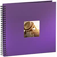 Hama Fine Art - Álbum de fotos, 50 páginas negras (25 hojas), álbum con espiral, 36 x 32 cm, con compartimento para…