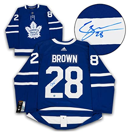 Image Unavailable. Image not available for. Color  Connor Brown Toronto  Maple Leafs Autographed Signature Adidas Authentic Hockey Jersey b784de4f4