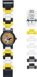 LEGO Star Wars 8020424 Stormtrooper Kids Minifigure Link Buildable Watch | black/white | plastic | 25mm case diameter | analogue quartz | boy girl | official