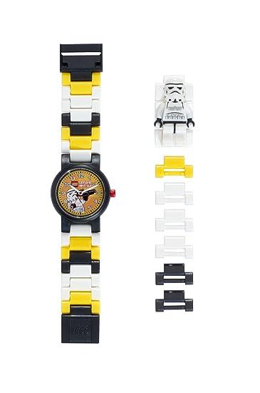 d32afc92164f Reloj modificable infantil con figurita de la tropa de asalto de LEGO Star  Wars 8020424 negro blanco  Amazon.es  Relojes