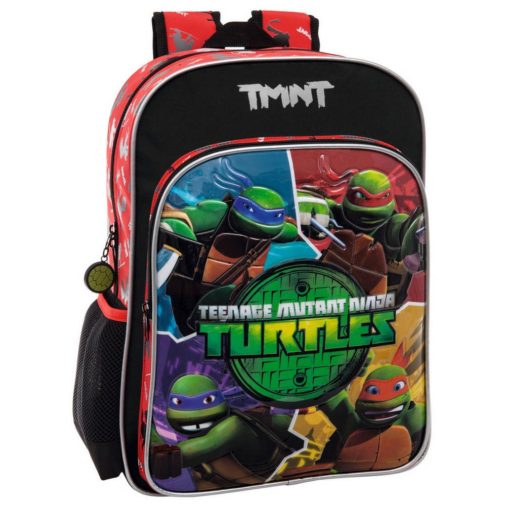 Tortugas Ninja Mochila Escolar, 19.2 litros, Color Verde ...