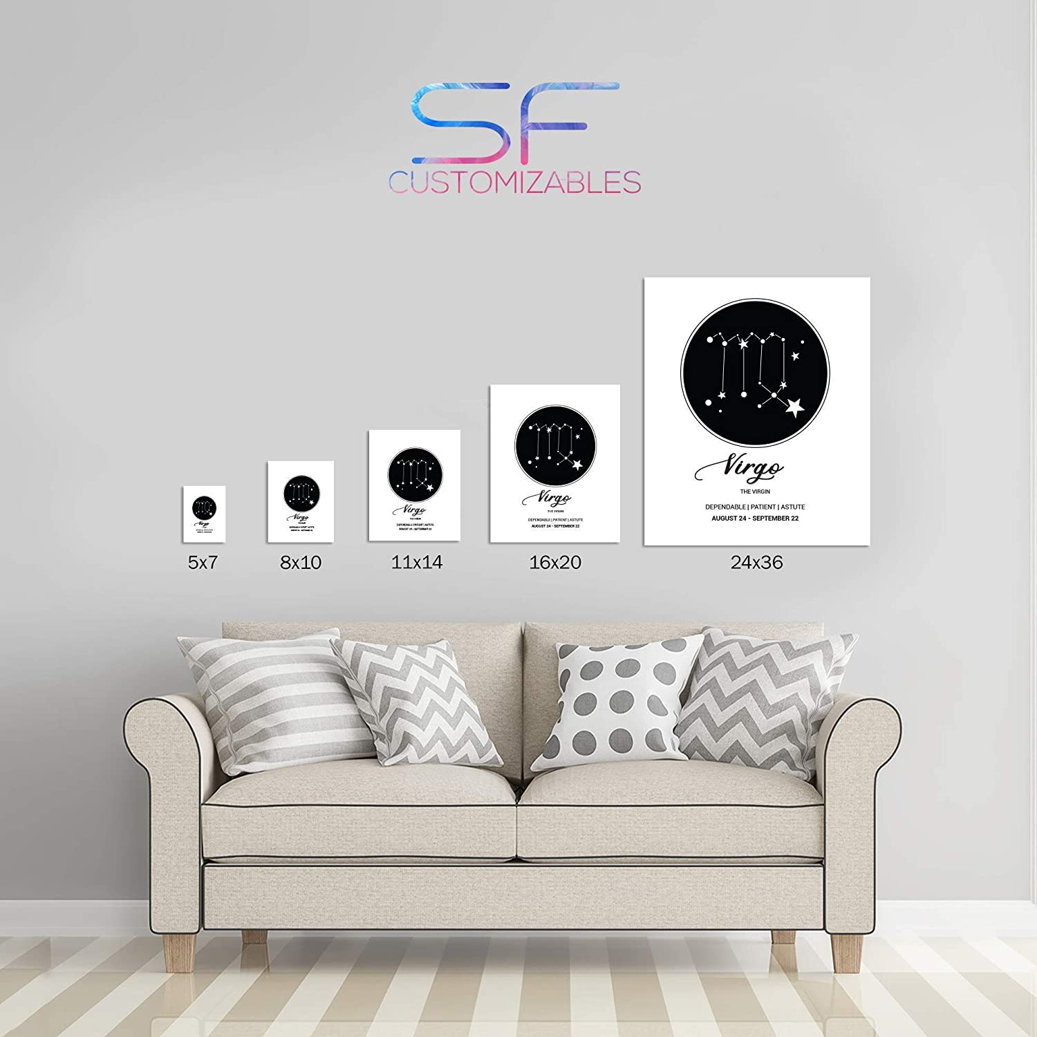 SF Customizables Baby Birth Stats Newborn Announcement Sign Last minute gift ideas Boy Girl Nursery Art Gift Personalized Birth Detail Poster Print ONLY