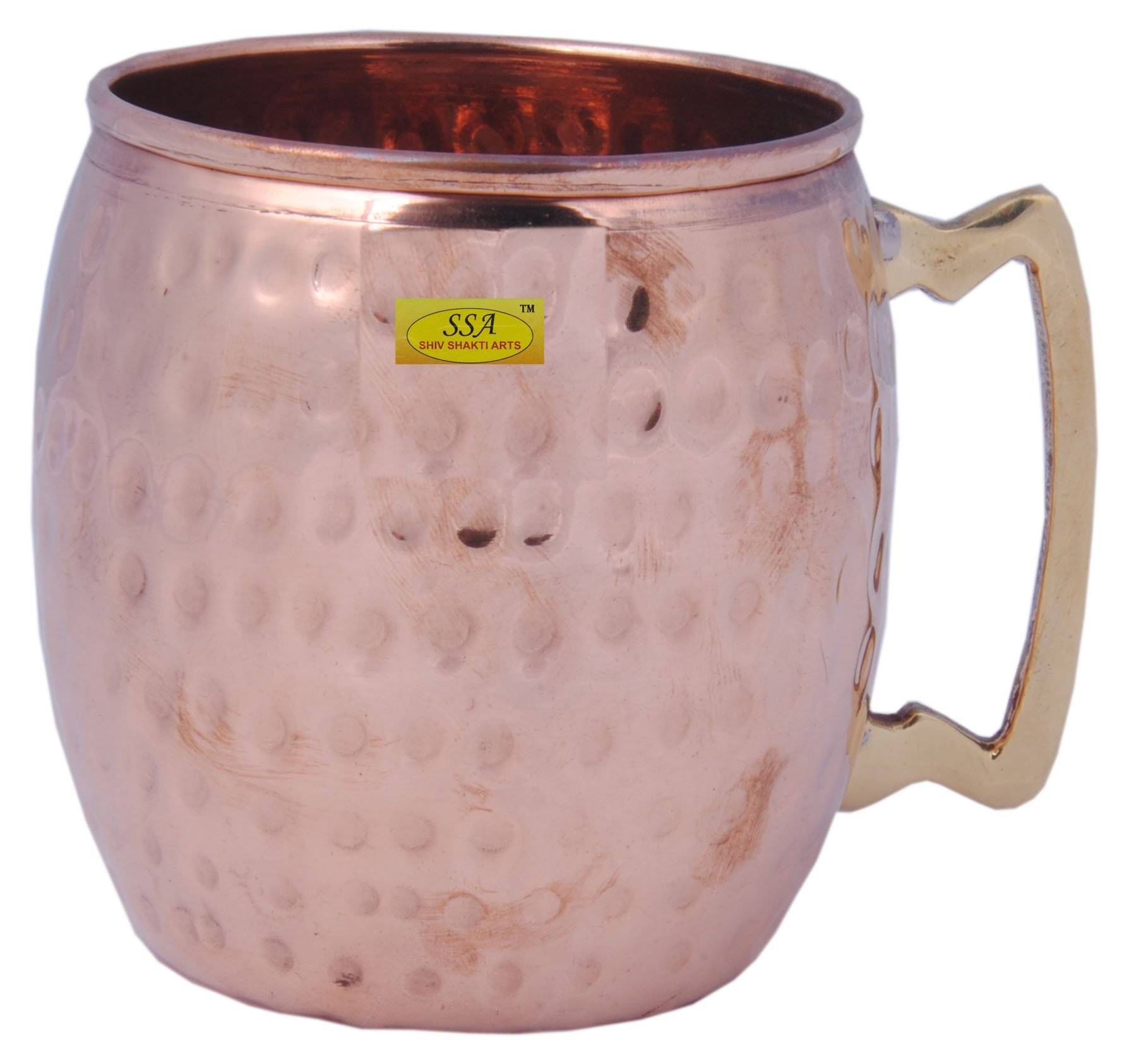 SHIV SHAKTI ARTS Handmade Moscow Mule 100% Pure Solid Copper Mug Capacity 530 Ml For Use Restaurant Ware Bar Ware Hotel Ware Home Ware For Wine Vodka Beer