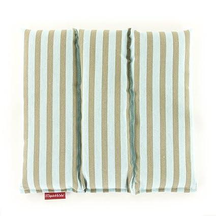 Saco Térmico de Semillas aroma Lavanda, Azahar o Romero tejido Azul con Rayas (Lavanda