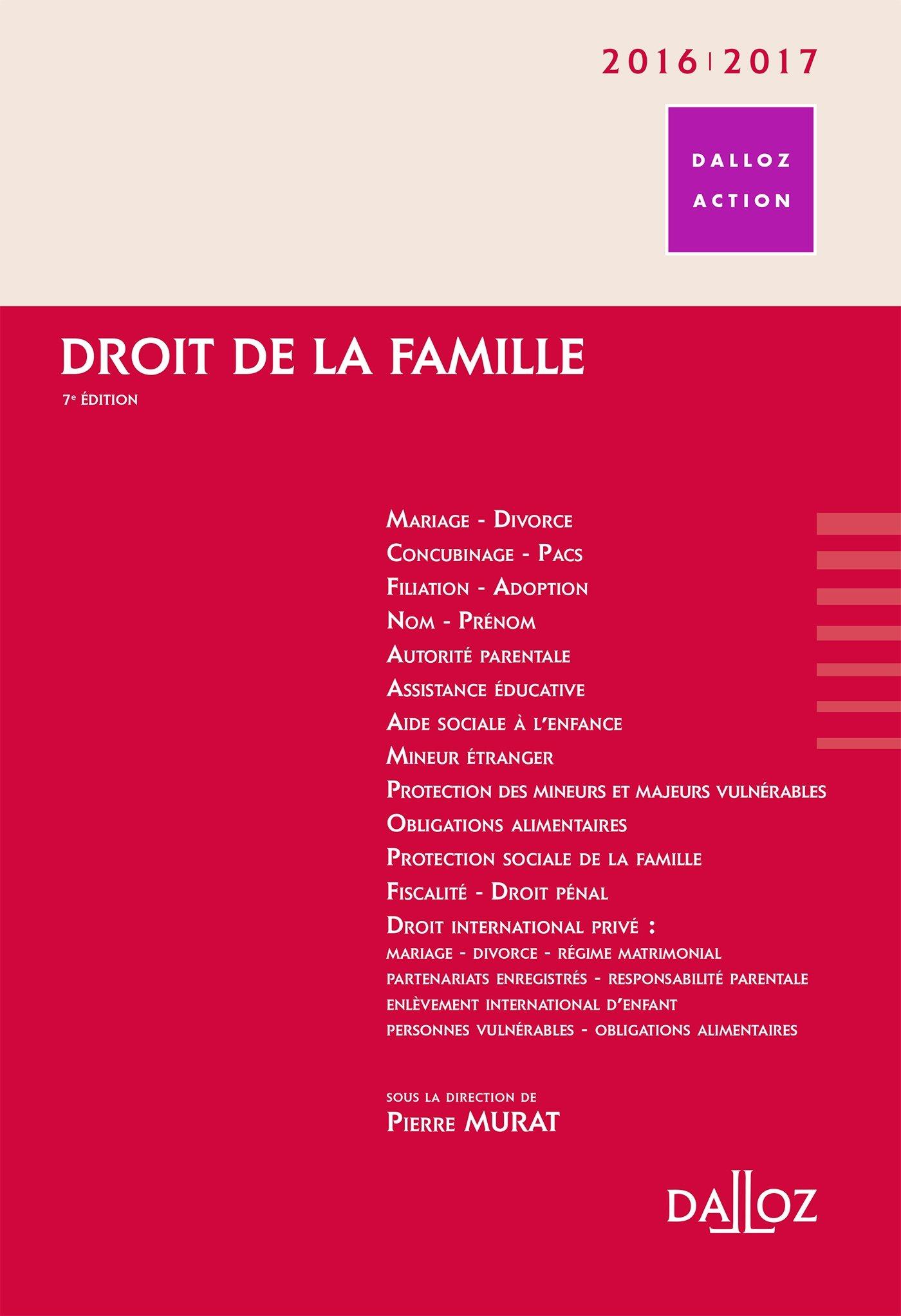 Droit de la famille 20162017 7e éd