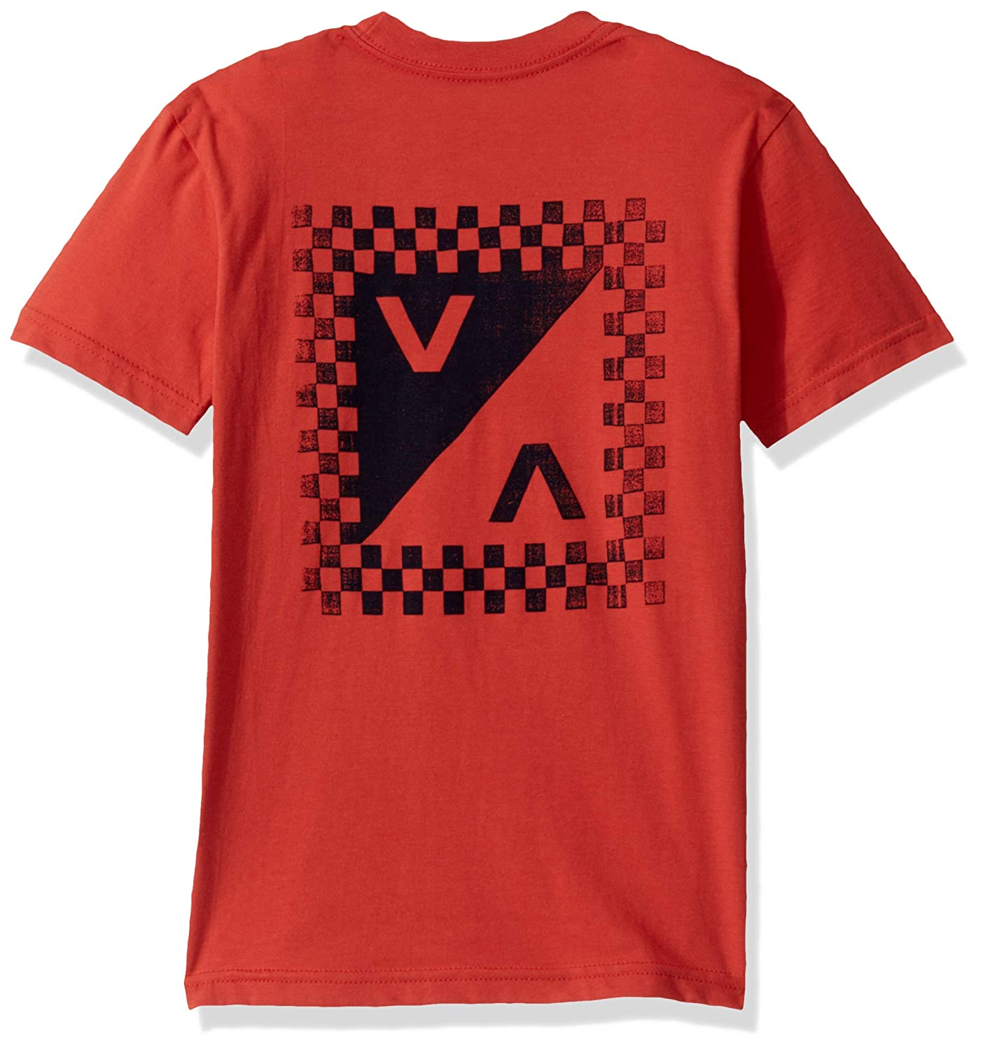 RVCA Boys Big Check Mate Short Sleeve Crew Neck Pocket-Shirt