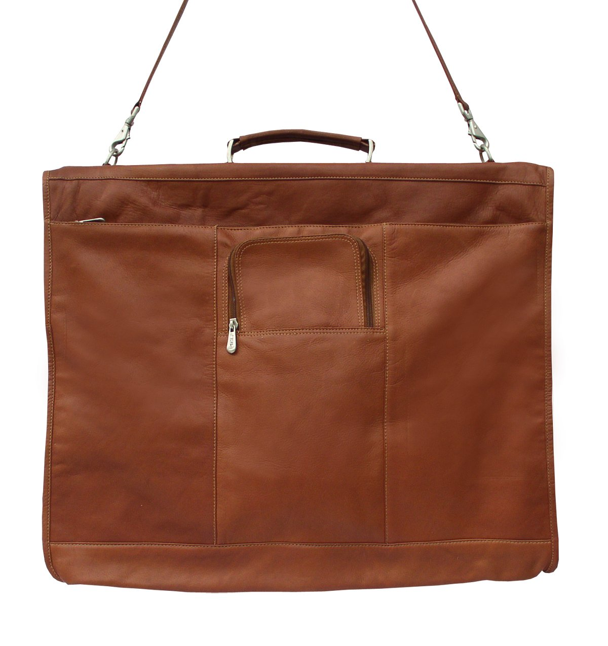 Piel Leather Traveler 40'' Elite Garment Carrie in Saddle by Piel Leather