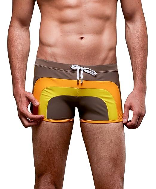 FACAOCI Bañador para Hombre Transpirable Ropa de Baño con Cintura Ajustable Diseño Moderno para Verano Surf Playa Piscina Deportes… PwPqt6fat