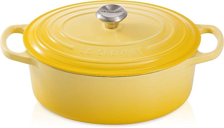 Le Creuset Cocotte Signature En Fonte Emaillee Avec Couvercle O 31cm Ovale Compatible Avec Toutes Sources De Chaleur Induction Incluse Capacite