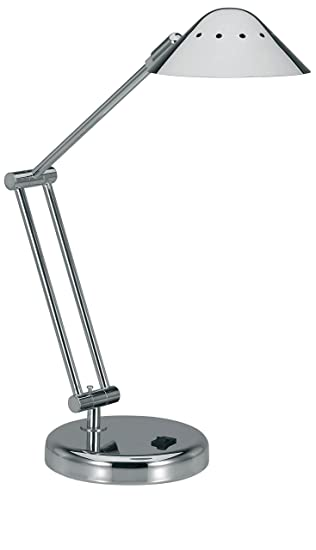 V LIGHT Halogen Desk Lamp With 3 Point Adjustable Arm And Dimmer Switch,
