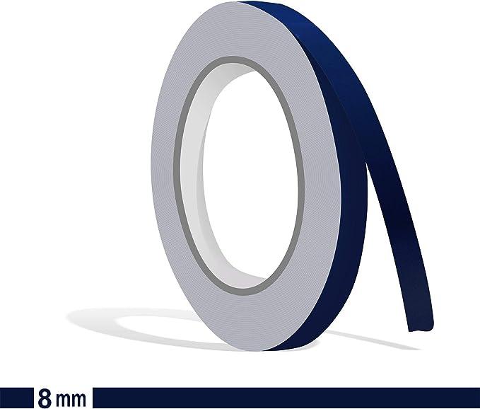 Siviwonder Zierstreifen Marineblau Glanz In 8 Mm Breite Und 10 M Länge Folie Aufkleber Für Auto Boot Jetski Modellbau Klebeband Dekorstreifen Marine Blau Stahlblau Auto